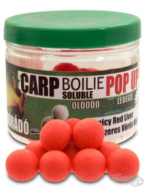 Haldorádó Carp Boilie Soluble Pop Up - Fűszeres Vörös Máj / Spicy Red Liver