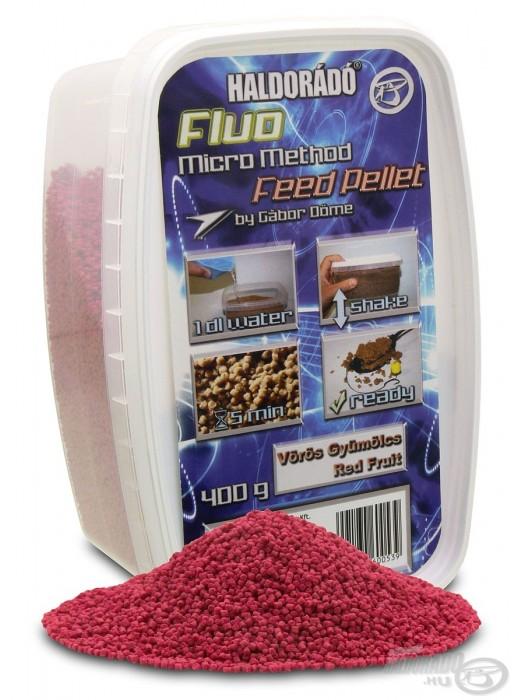 Haldorádó Fluo Micro Method Feed Pellet - Red Fruit