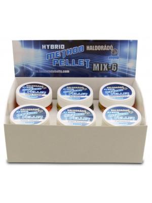 Haldorádó Hybrid Method Pellet - MIX-6 / 6 príchutí v jednej krabici