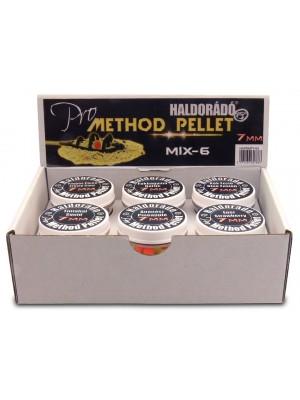 Haldorádó Pro Method Pellet 7 mm - MIX-6 / 6 príchutí v jednej krabici