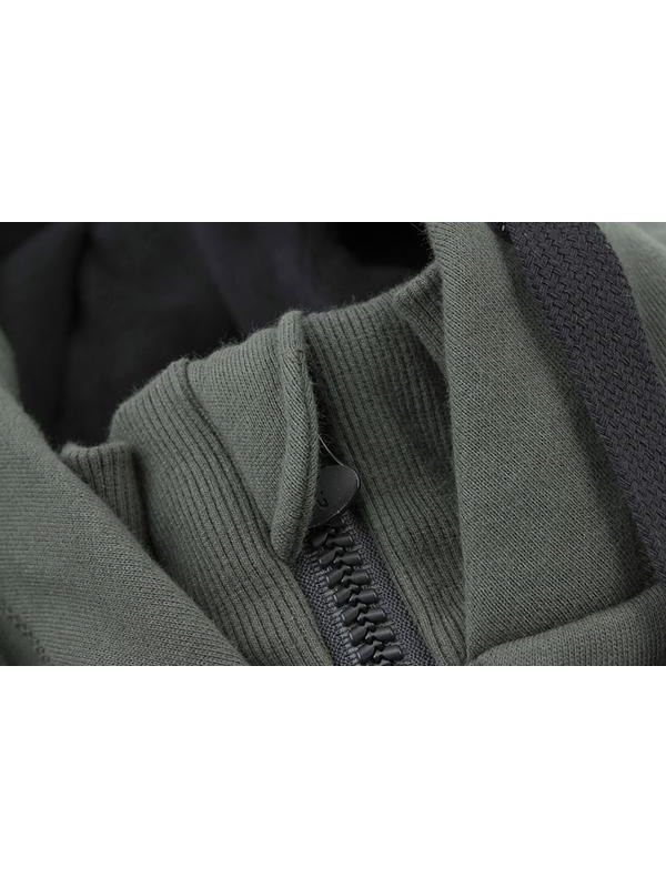 Fox Green & Black Heavy Lined Hoody - L